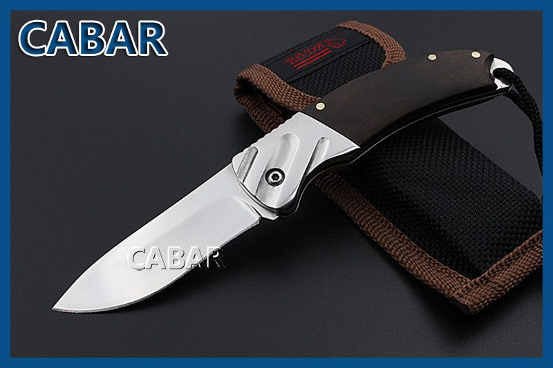 CABAR 2015 New Arrival Single Blade Hunting Camping Diving Outdoor Knife Top Quality Blade Fold Knife