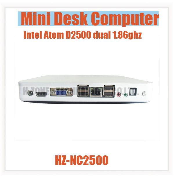 Cheap Mini Computer Dual Core Mini PC Intel D2500 1.86ghz 4G RAM 320G HDD 1080P HDMI Win 7 WIFI Micro PC Min Desktop computer(Hong Kong)