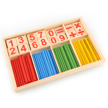 High Quality Preschool Spindles Wooden Montessori Mathematics Math Material Counting Toy for Kids Children Gift New(China (Mainland))