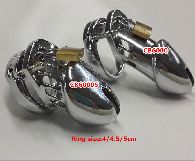 Male chastity device stainless steel metal CB6000/CB6000S,Cock Cage ,sexy toy adult most popular penis sleeve cock ring(China (Mainland))