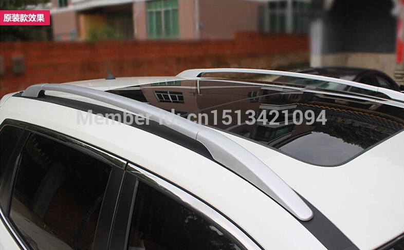 High quality! Aluminium Alloy Silver Roof Rack Side Rails Bars A Set For nissan Rogue 2014 2015 / X-trail 2014 2015(China (Mainland))