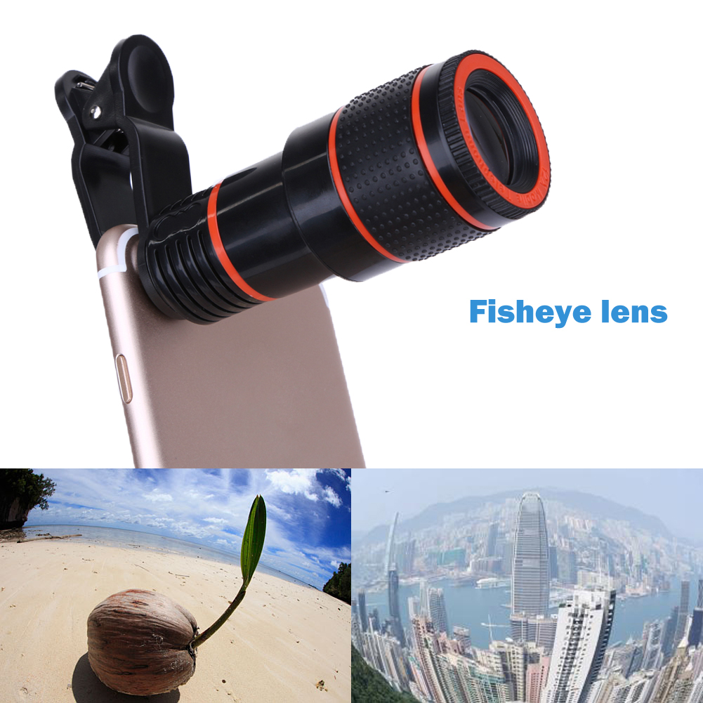 Phone Lens Universal Clip On 12X Telephoto Lens Mobile Phone Optical Zoom Telescope Camera For iPhone For Sumgung S7 For xiaomi(China (Mainland))
