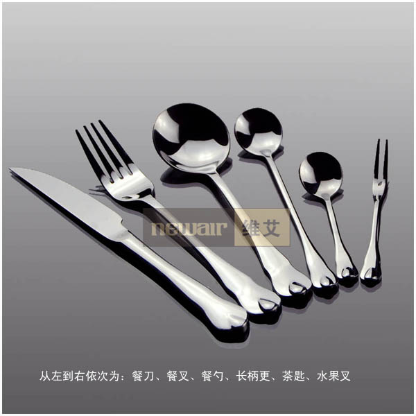 Buy Gohide Brand New Kitchen Fashion Dinnerware Set Knife Fork Spoon Piece Set Dinner Stainless Steel Spoon Fork Knife Kit cheap