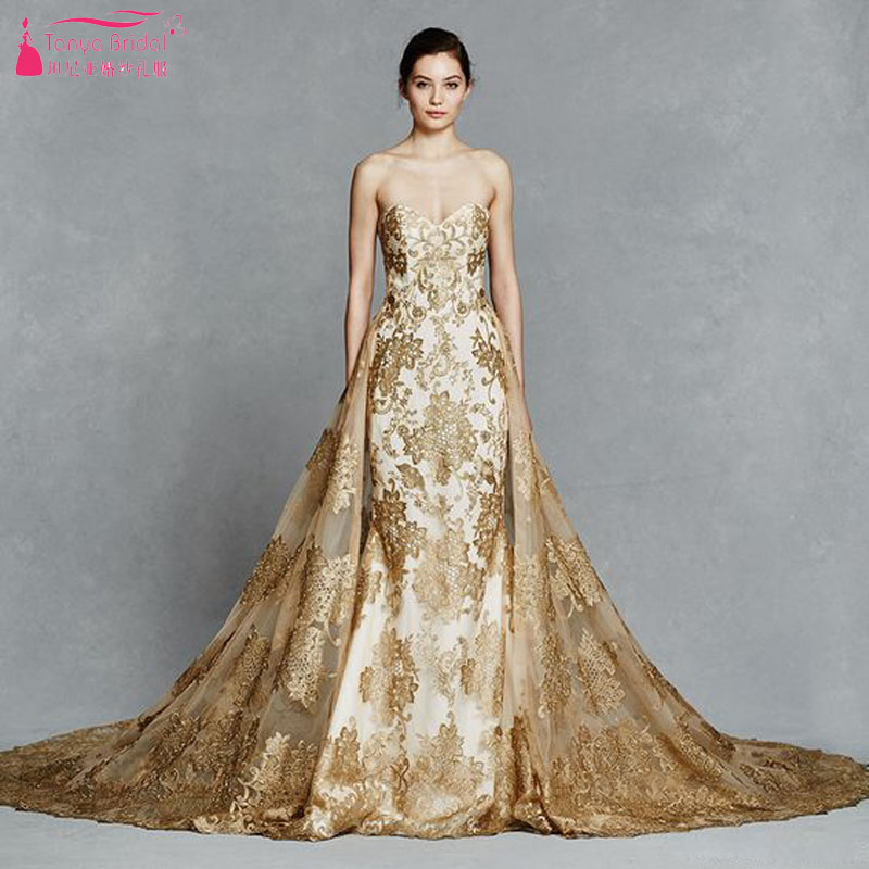 online buy wholesale mermaid gold wedding dress from china
