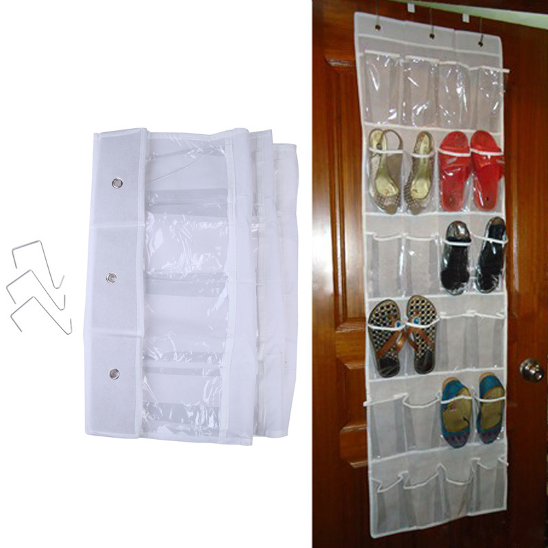D1U# 24 Pockets Door Hanging Holder Shoe Hanger Organiser Shoe Rack Wall Storage Bag Room Factory Price Free Shipping(China (Mainland))