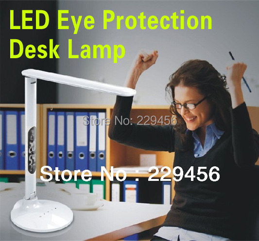 Multi-functional LED Desk Lamp Folding Dimmable USB Touch Switch Office Study Bedside Reading Lamp 8W 110-240V(China (Mainland))