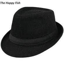 Original Unisex Structured Wool Fedora Hat Fedora hats for men fedora felt hat(China (Mainland))
