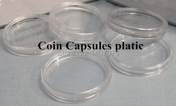 Hard coins capsule , free shipping Direct Fit H 40mm plastic capsule 100pcs/lot,extra cases for the broken ones(China (Mainland))