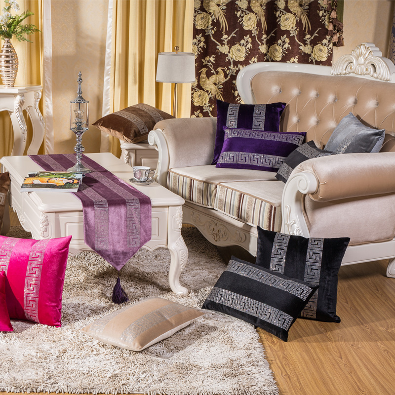 Aliexpress.com : Buy Sofa decorative throw cushion covers plush rhinestone cushion case throw ...