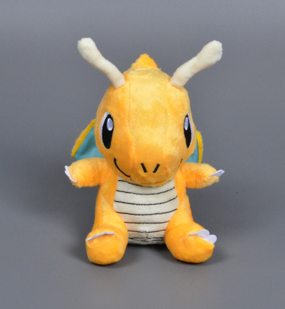 17cm Pocket Monster plush toy Cartoon Pikachu Dragonite stuffed doll Cute pokemon Japanese Anime stuffed collectibles doll toys(China (Mainland))