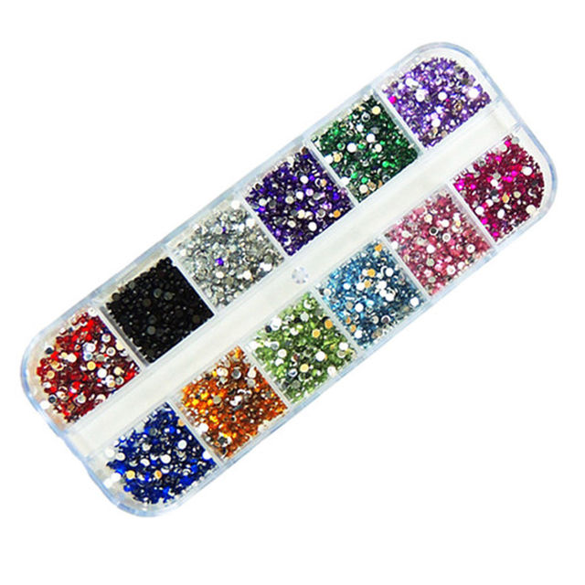 3,000pcs 2.0mm 12 colors Round Acrylic Rhinestone for Nails 3D Nail Art Decorations Rhinestones Nail Tips Dropshipping SKU:D0030