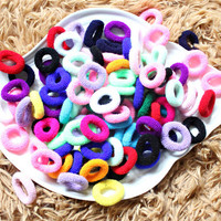 New 100PCS candy color baby girls elastic hair bands headwear ring rope #8205