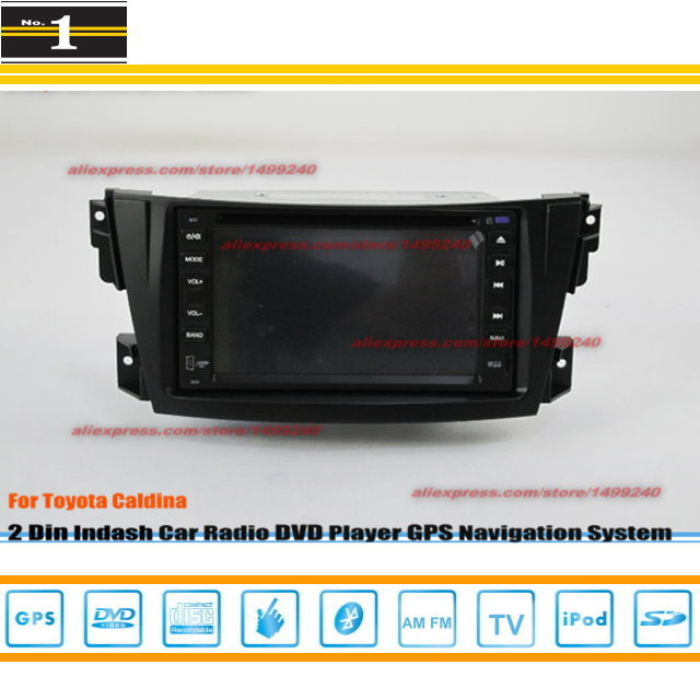 For TOYOTA Caldina (T240) 2002-2007 - Radio CD DVD Player & GPS Navigation System / Double Din Car Audio Installation Set(China (Mainland))