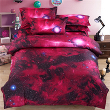 New 3d Galaxy bedding sets Twin/Queen Size Universe Outer Space Themed Bedspread 3pcs/4pcs Bed Linen Bed Sheets Duvet Cover Set(China (Mainland))