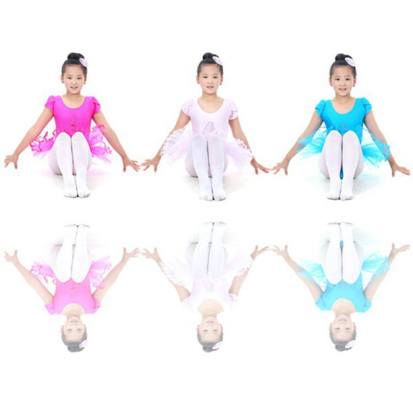 New Child Girls Ballet Dancewear Dress Tranning Dance Skirt Tutu Dress Leotard 4 SizeYRD