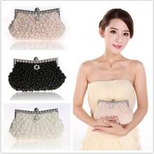 2016 Женщины Сцепления вечерние сумки кошелек Полный жемчужина Кристалл бисером сумки Сцепления Цепь сцепления сумка(China (Mainland))