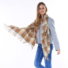2015 Hot Sale Brand Women Winter Thick Tartan Pashmina Scarf Big Blanket Plaid Bufanda Invierno Mujer With tassels 186*70cm