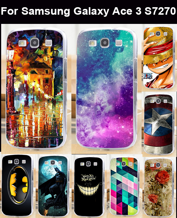 Colorful Painted Back Cover Skin Shell For Samsung Galaxy Ace III 3 S7270 S7272 Housing Covers Skin Hood Shell Cell Phone Bags(China (Mainland))