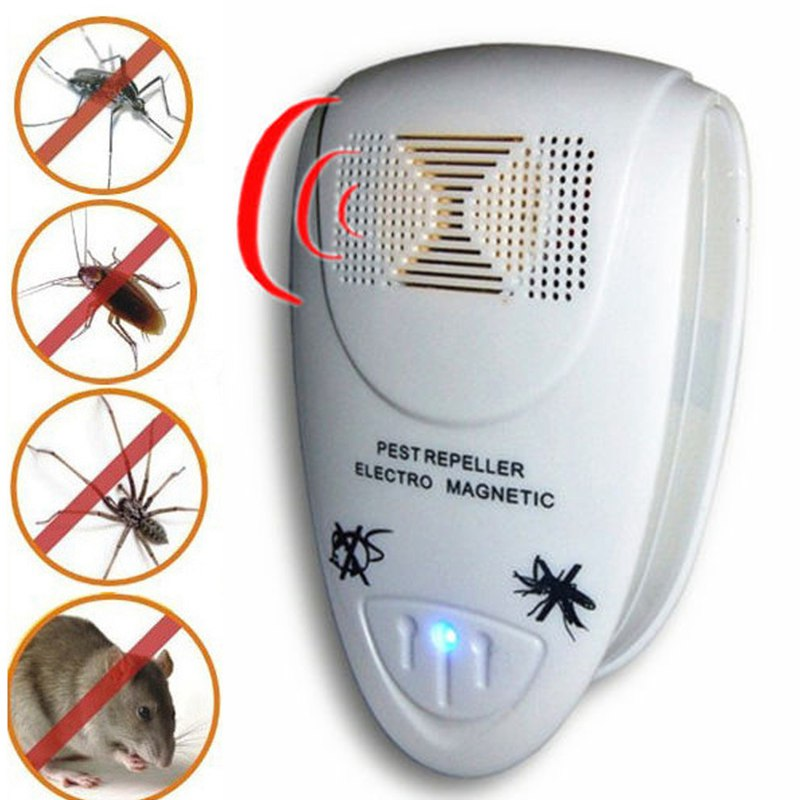 Ultrasonic Pest Repeller Pest Control EU Plug Rat Trap Ultrasonic Pest Repeller Mosquito Trap Electronic Anti Mosquito Rat Mice(China (Mainland))