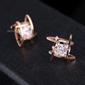 European and American fashion exquisite earrings zircon earring Fashion jewelry O1002