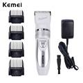 110V 220V Include Battery Titanium Blade Kemei Professional Hair Trimmer Electric Hair Clipper Cutting Machine Shearer