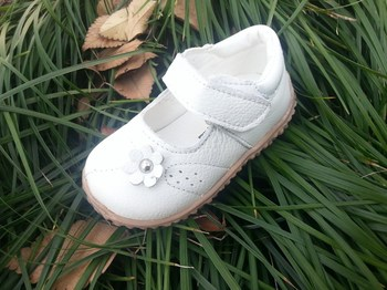 Little Girls Leather Shoes 1-3 years Female Baby Footwear Toddlers White Color Girls Kids Non-Slip Shoe Princess First Walkers