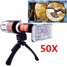Buy Telescopic 50x Zoom Optical Mobile Phone Camera Lenses Telephoto Lens Kit Tripod Case iPhone 6 Telescope Lens CL-48 for $100.69 in AliExpress store