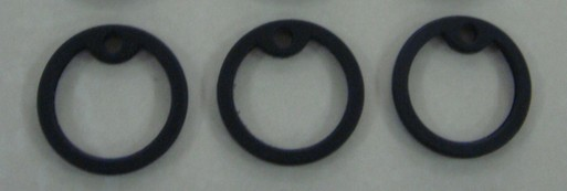 Rubber dog tag silencer for 5cm*2.7cm , Jewellery findings & Components(China (Mainland))