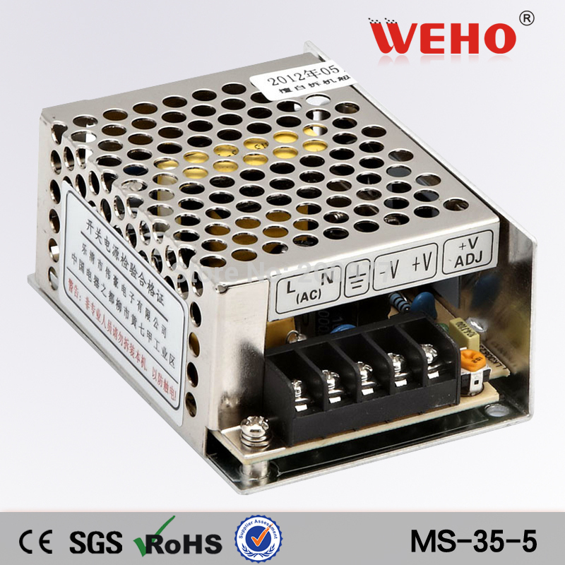 (MS-35-5) ac dc power converter 35W 5V LED Switch power supply manufacture(China (Mainland))