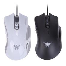 Buy Black/White 6 Keys European Right-handed Ergonomic Design Mice Custom 8G 3800DPI Wired USB Optical Gaming Mouse for PC Laptop for $14.04 in AliExpress store