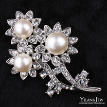 12pcs/lot Bridal Crystal Brooch