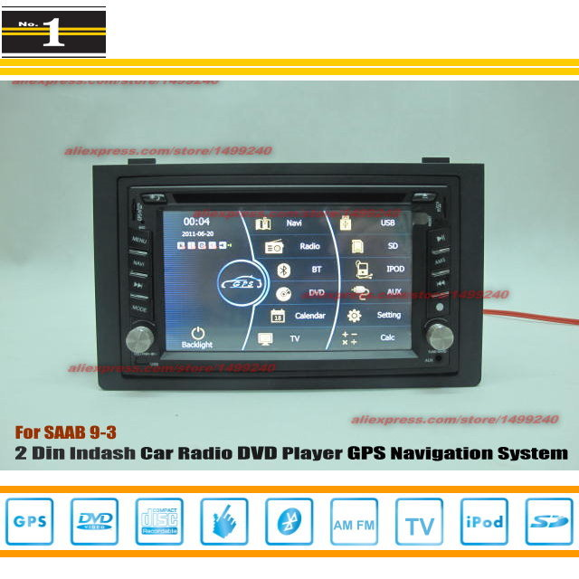 For SAAB 9-3 2006~2012 - Radio CD DVD Player & GPS Navigation System / Double Din Car Audio Installation Set(China (Mainland))