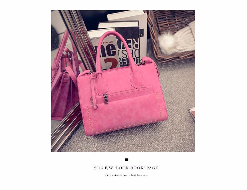 Ladies Chic Exquisite Hand Bag Occident Style Retro Nubuck Leather Composite Bag Women Designer Elegant PU Leather Shoulder Bag