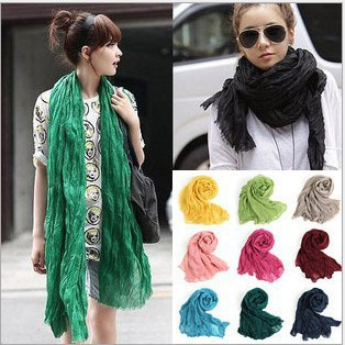 2015 Womens Fall Fashion Desigual Xales Feminino Muffler Silk Sciarpa Chiffon Female Shawls Linen Winter Long Cotton Scarf(China (Mainland))