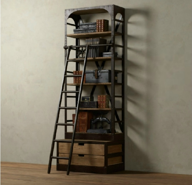 pays d 39 am rique pour faire le vieux r tro style industriel biblioth que tag re en bois avec. Black Bedroom Furniture Sets. Home Design Ideas