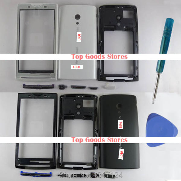 Full Housing Fascia Chassis Cover For Sony Ericsson For Xperia X10 X10i X10a With Button Repair Part White Black(China (Mainland))