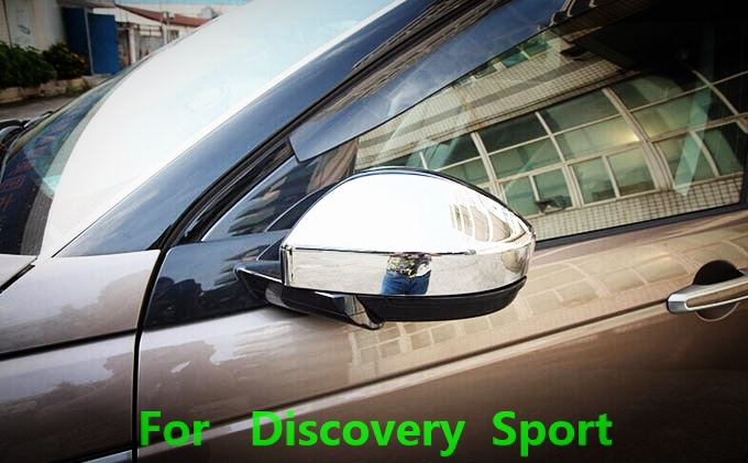exterior chrome Accessories 2015 land rover discovery sport front side door rearview-mirror box cover trim sticker frame - Car Of The World store