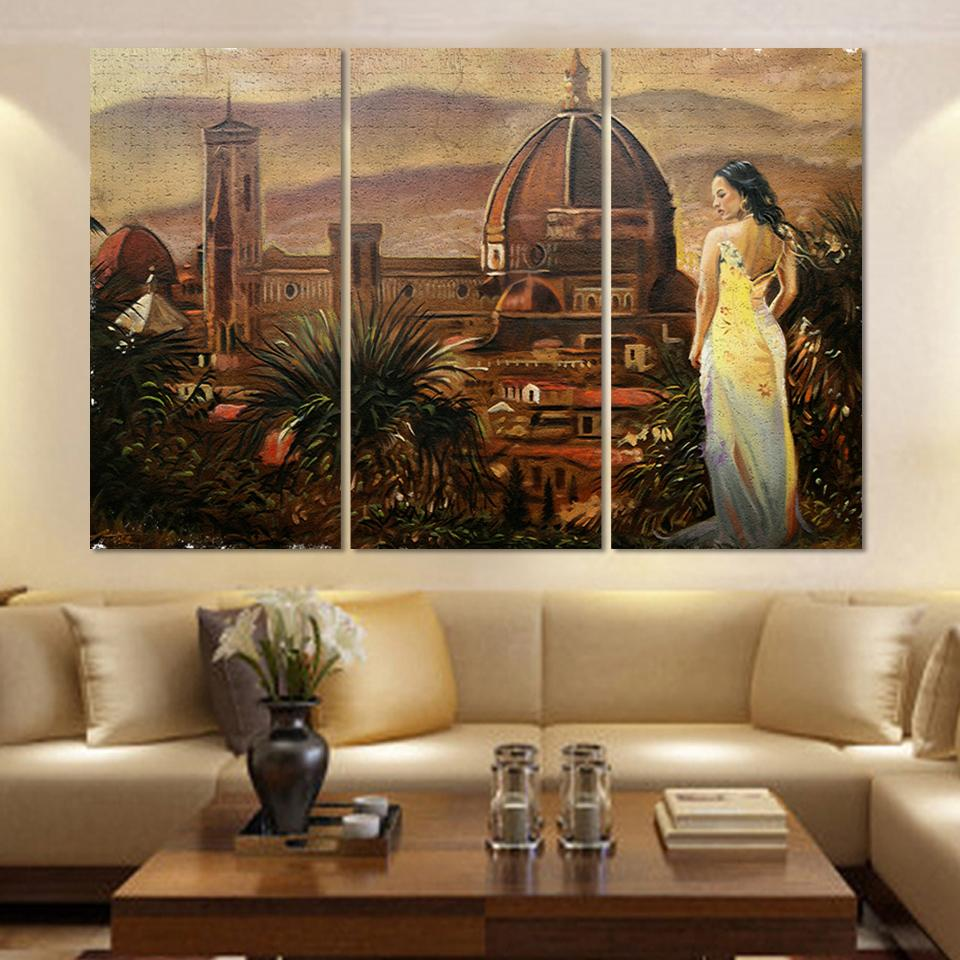 Living Room Oil Paintings Online Buy Wholesale Lonely Girl Abstract Oil Painting From China