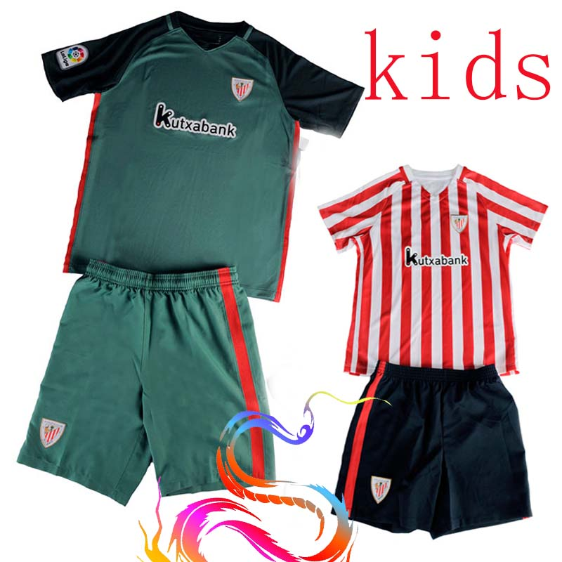 NEW Athletic Bilbao 2016 17 kids White red Blue home away soccer jerseys Athletic Bilbao football maillot de foot Thai quality(China (Mainland))