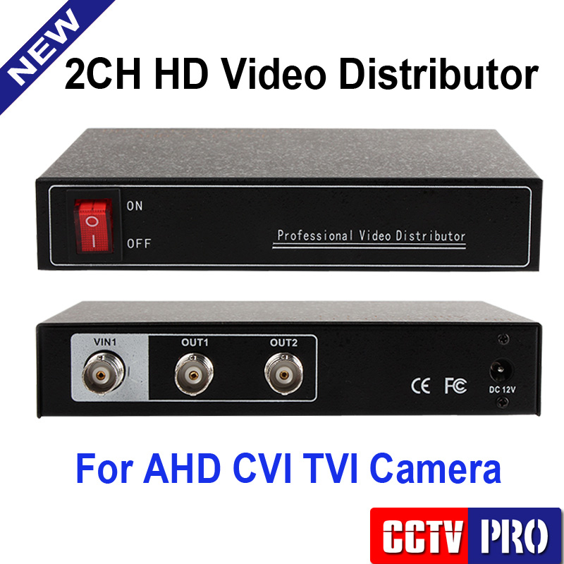 Mini One In&Two Output Professional Analog Video Splitter,Support HD 720P/1080P CVI/HDTVI/AHD Camera Bnc Output,Up to 300-600m(China (Mainland))