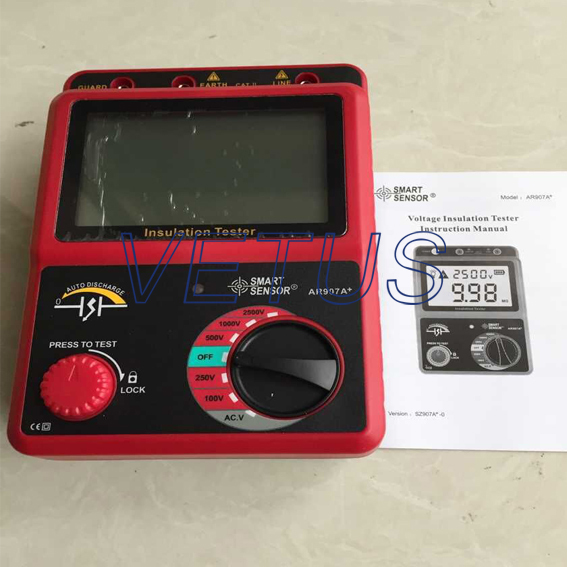 Фотография AR907A+ AC / DC multi-function insulation resistance tester with Resolution 1.0V