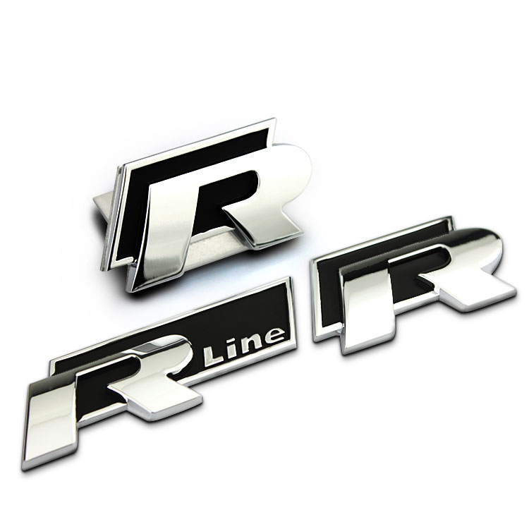 r line metal 3d front hood grill badge car emblem stickers. Black Bedroom Furniture Sets. Home Design Ideas