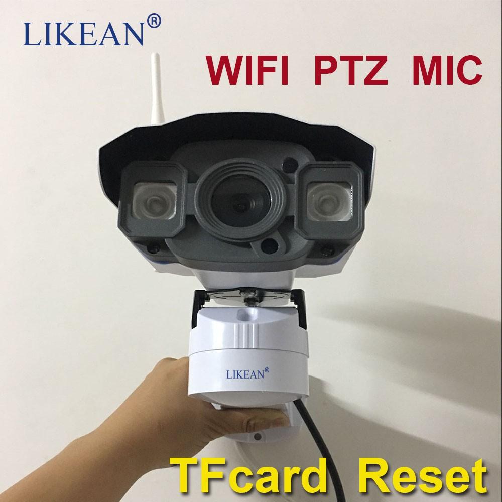 LIKEAN PTZ 960P WIFI IP Camera HD 1.3MP wifi camera Night Vision Outdoor w TF Card Slot CCTV Camera Motion Detection MIC wedcam(China (Mainland))