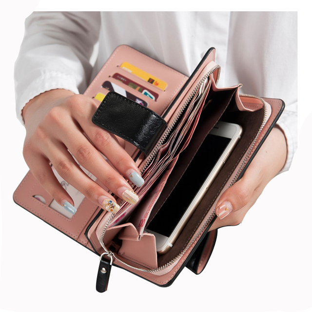 Горячие продаж женский кошельки молнии долларовых цен кожаный бумажник мужчины / ...