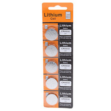 5PCS/Lot ,CR2032 3V Cell Battery Button Battery ,Coin Battery, lithium battery For Watches, clocks, hearing aids, calculators