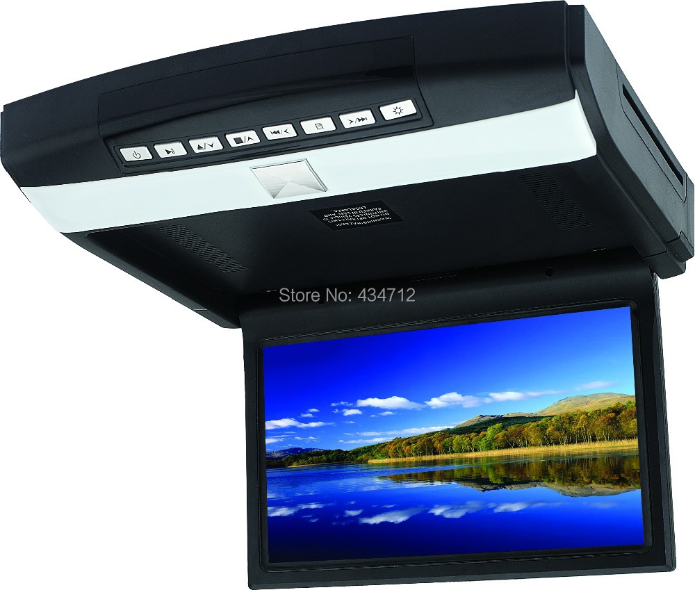 10.1 inch roof mount/Flip down/ overhead/ drop down car DVD Player with USB SD IR FM SPK Game stick(China (Mainland))