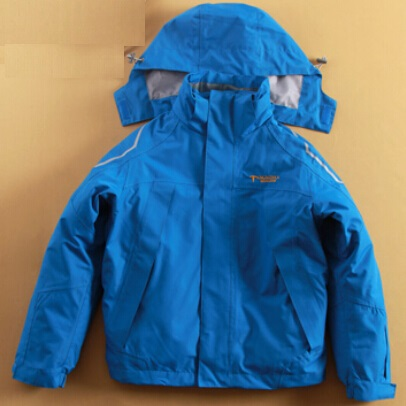 Minus 25 Degrees Children Outerwear Warm Coat Sporty Ski Suit Double-decker Waterproof Windproof Boys Girls Jackets For 5-14T(China (Mainland))