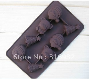 D3 Free shipping hot christmas Silicone 8 Shapes Cake Mould /Silicone Cake Decorating