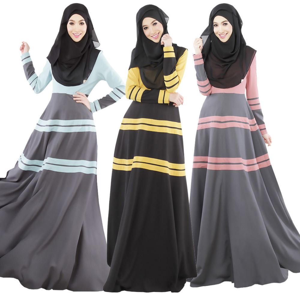 2015 Muslim Abaya Dress For Women Islamic Abaya Dresses Dubai Islamic Clothing Muslim Kaftan