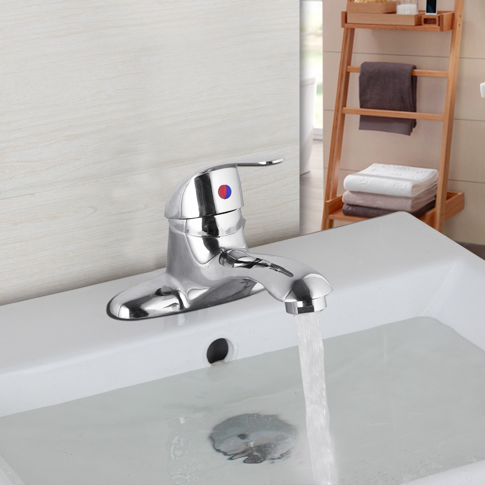 Chrome Plated Wash Basin Faucet Single Handle Two Holes Mixer Tap Bathroom Deck Mounted Tap Zinc Alloy Chrome Stainless Stain(China (Mainland))